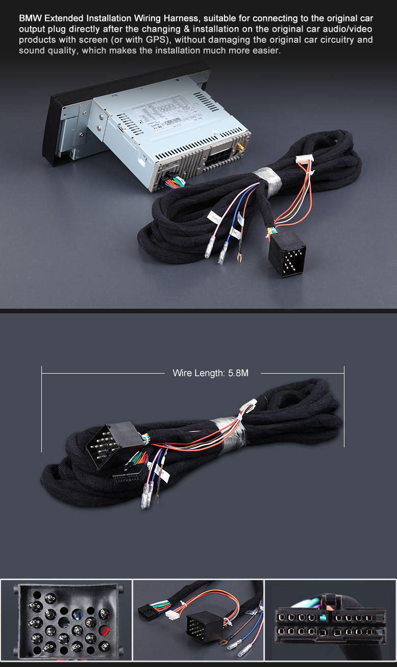 Eonon A0564z Specific Bmw Installation Wiring Harness Car Shipping