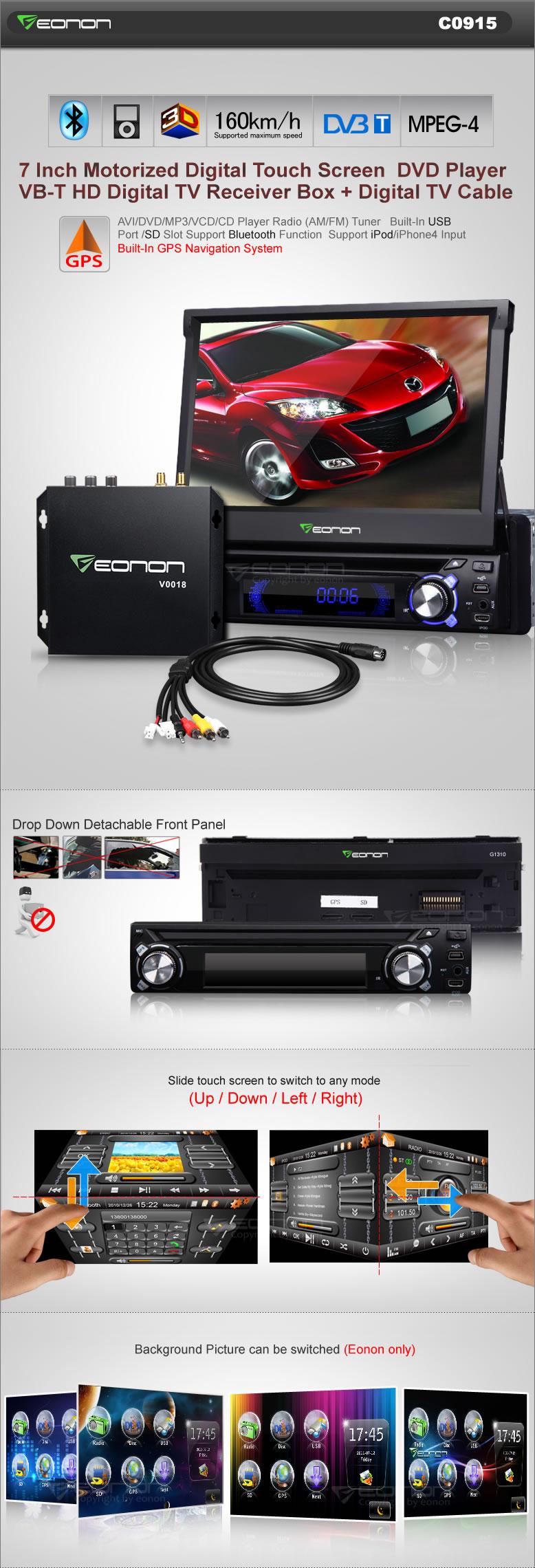 Eonon C0915 Car Gps Dvd 1 Din Double Wire Diagram Shipping