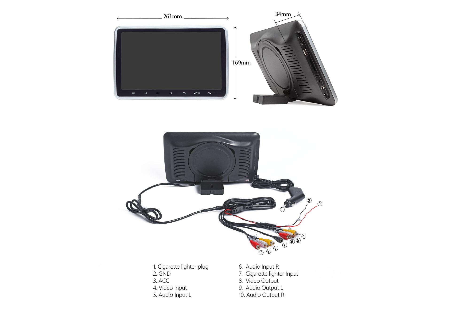10.1 inch car monitor