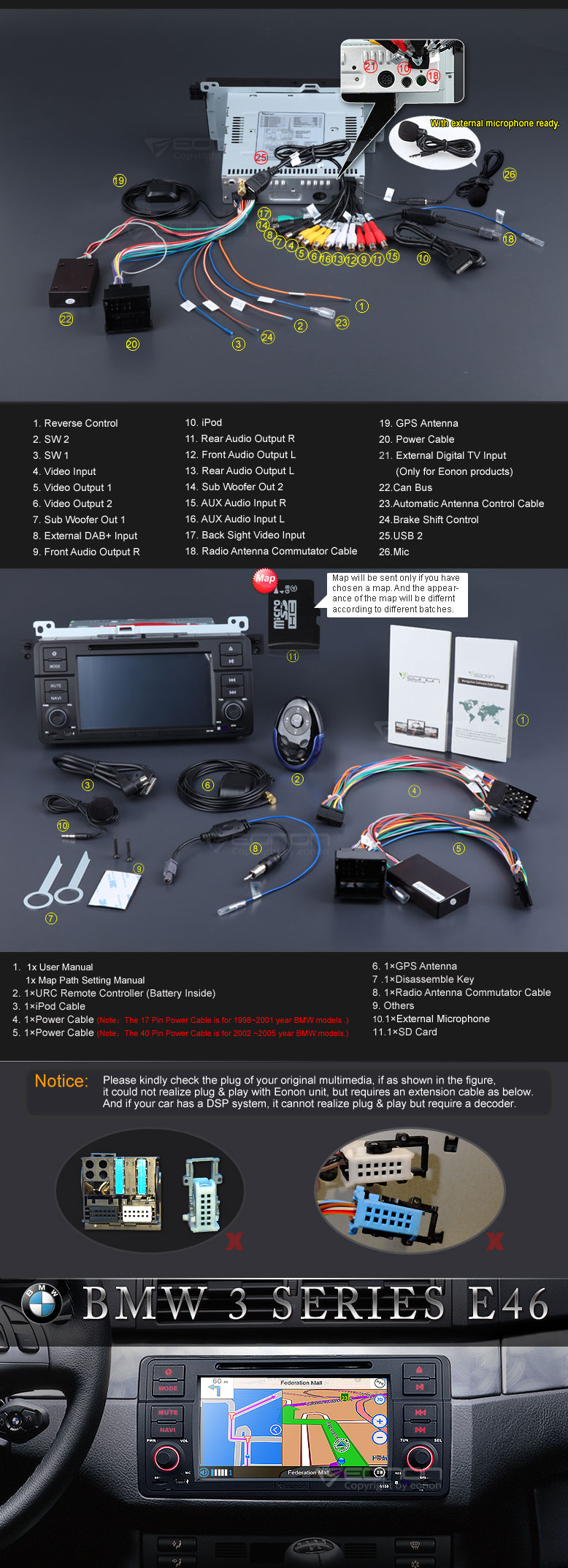 D5150 05G eonon d5150 car dvd specific car dvd car dvd for bmw e46 eonon d5150 wiring diagram at bayanpartner.co