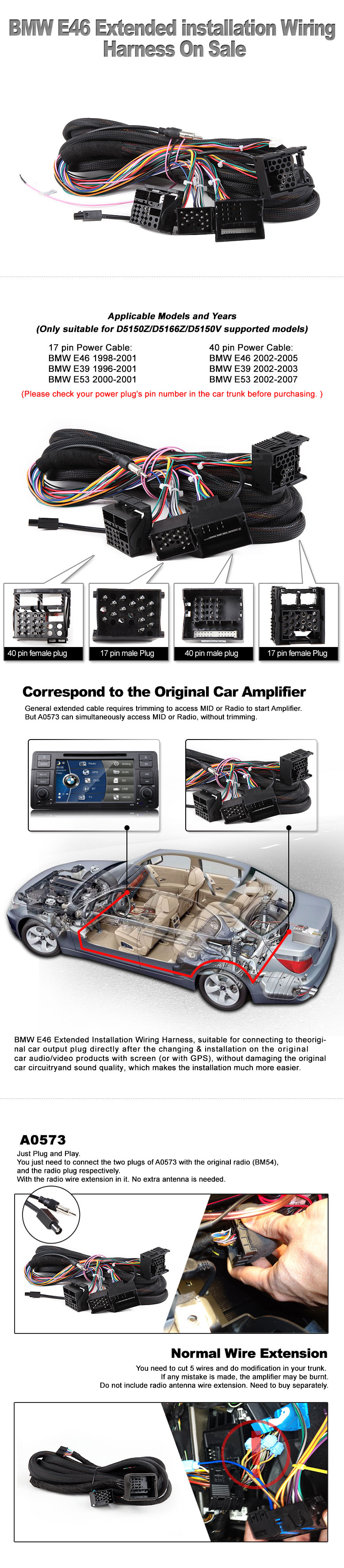 Bmw E46 Gps Wiring Harness Electrical Diagrams Eonon D5150 Diagram D5150v Car Dvd Specific For Connectors