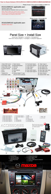 Eonon D5151z Car Dvd Specific For Mazda 3 2009 Accessory Wiring Diagram General Models Mazda3 2004
