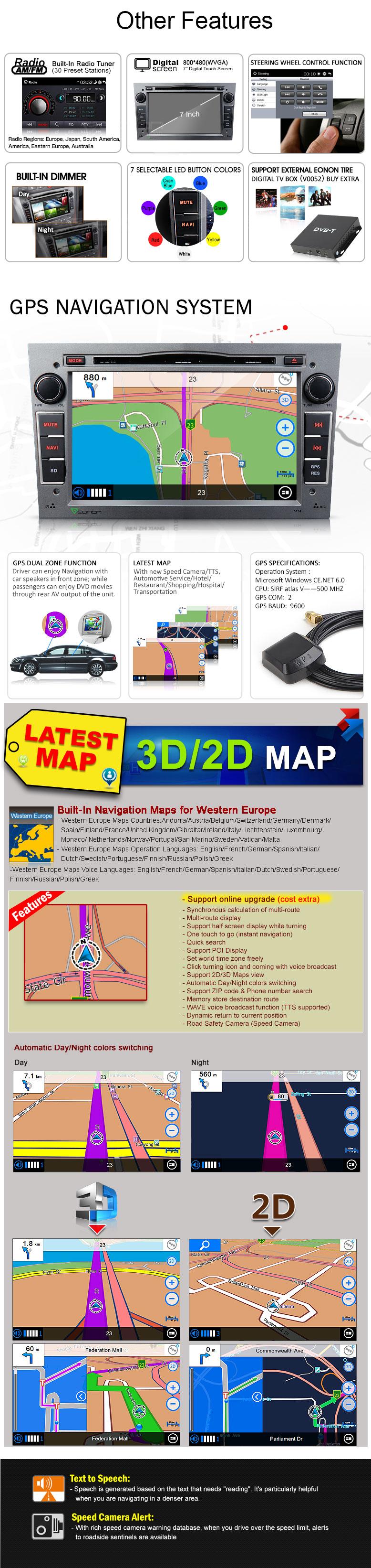 7 inch Digital Touch Screen Multimedia Car DVD GPS