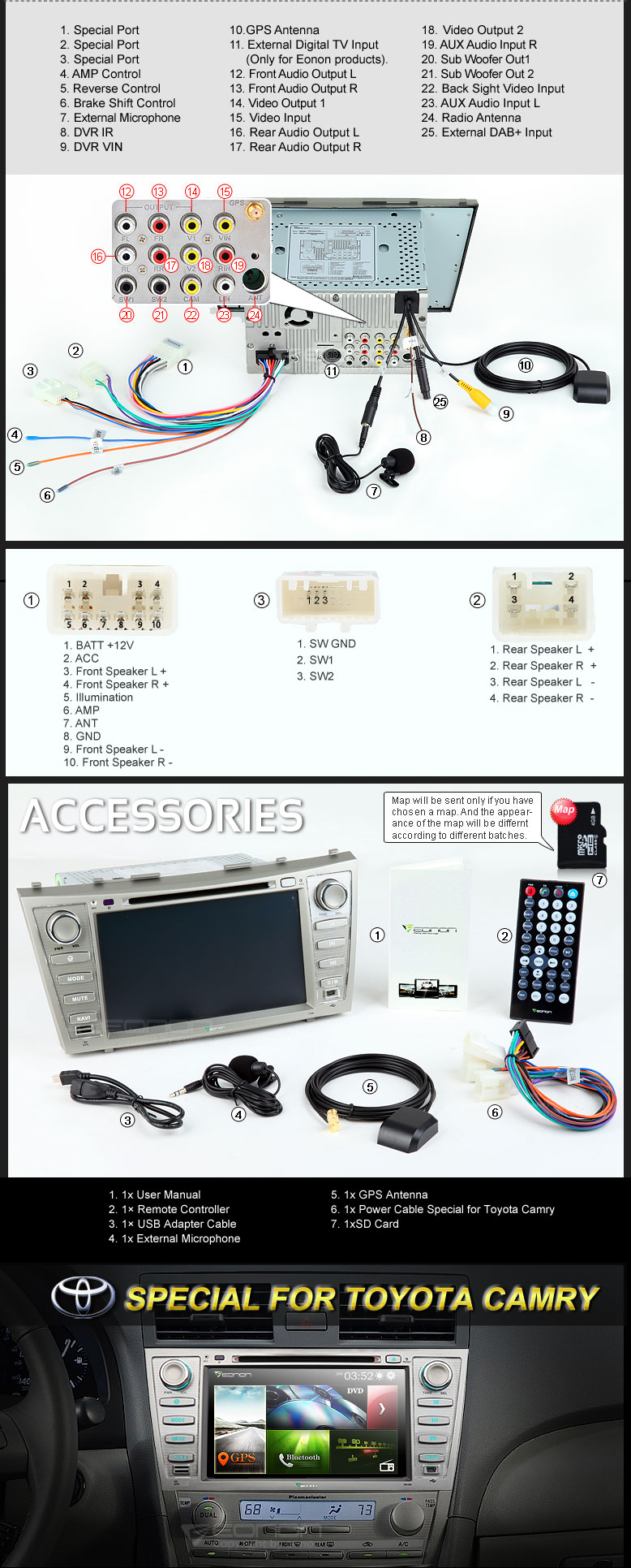 extnix toyota aurion 07 11 8 inch hd touchscreen dvd. Black Bedroom Furniture Sets. Home Design Ideas