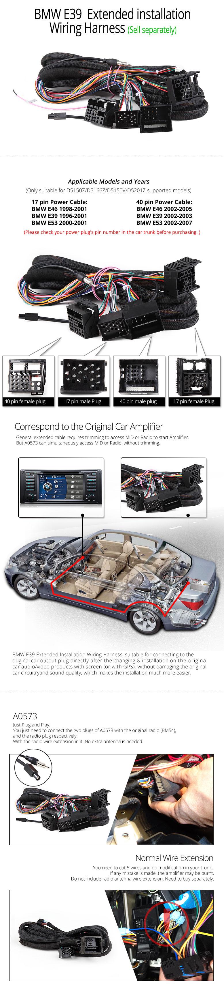 Bmw E39 Digital Touch Screen Multimedia Car Dvd Gps Upgraded D5124f Engine Wire Harness Eonon