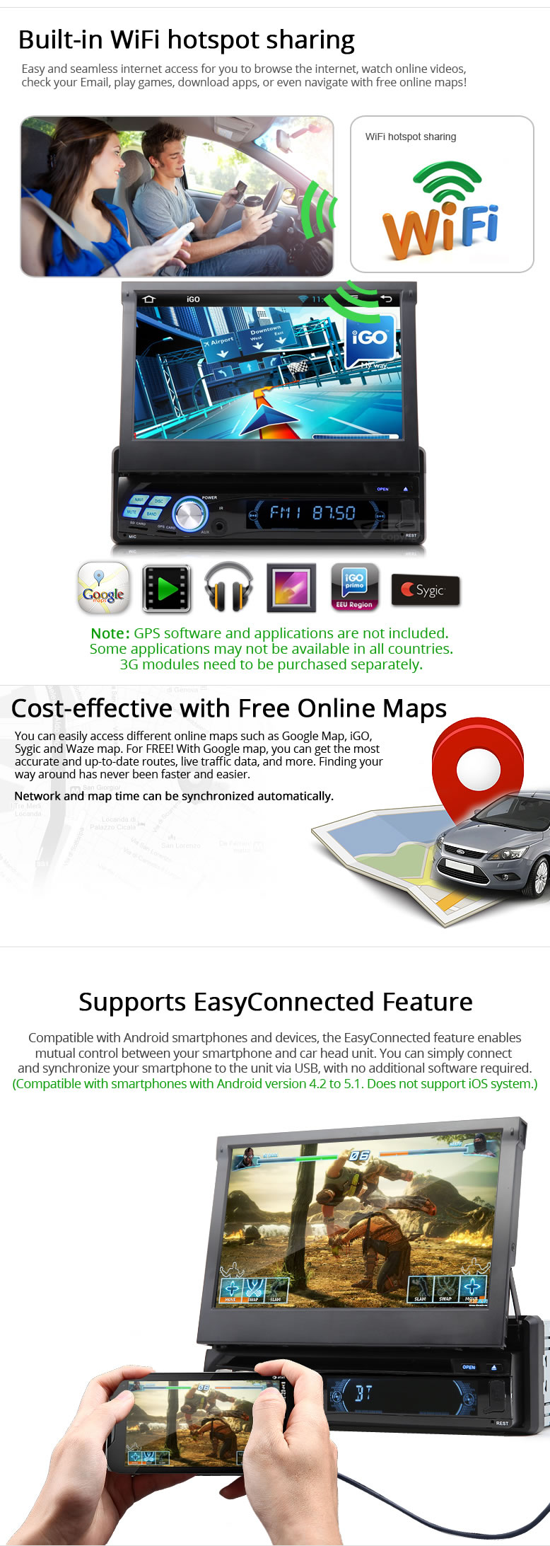1 Din GPS Navigation,android 1 din car stereo