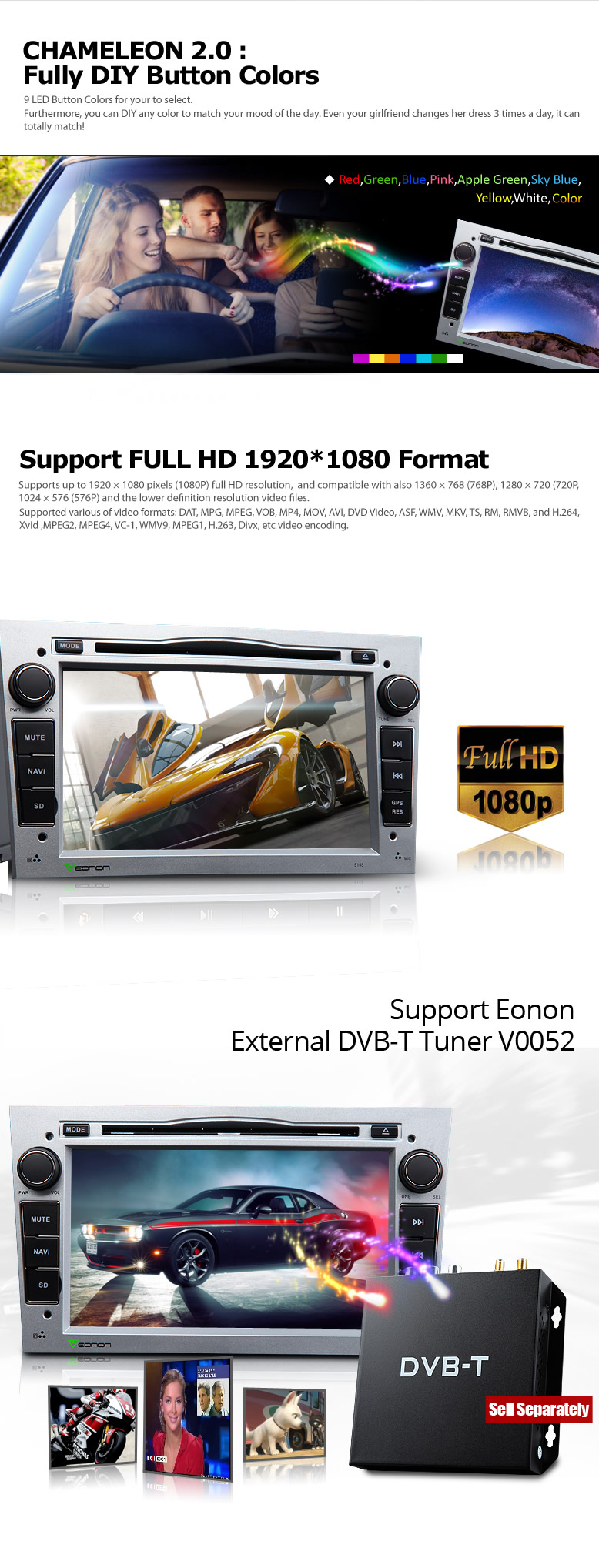 Android 4.4.4 Quad-Core 7 inch Multimedia Car DVD GPS