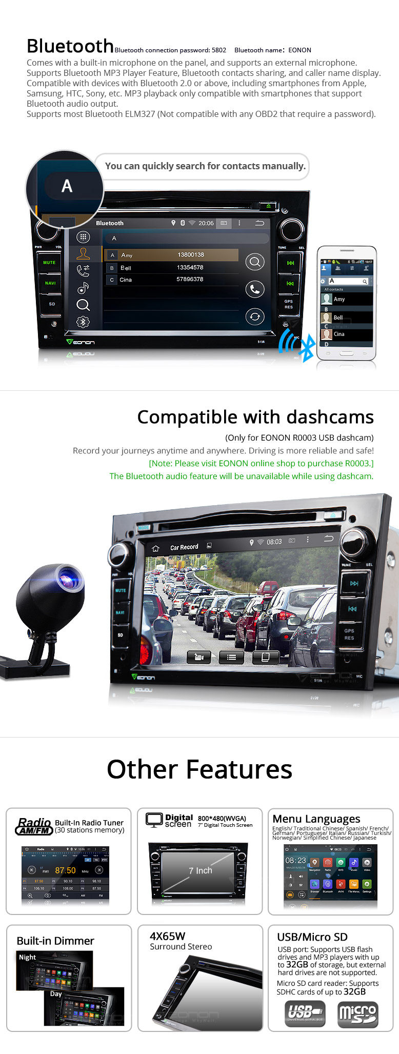 Android 4.4.4 Quad-Core 7 inch Multimedia Car DVD player with GPS