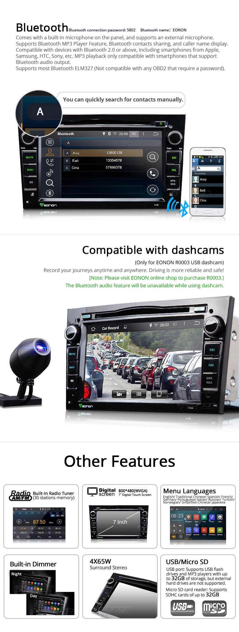 Eonon Black GA5156F | Opel Android Car DVD | Opel Navi | Vauxhall