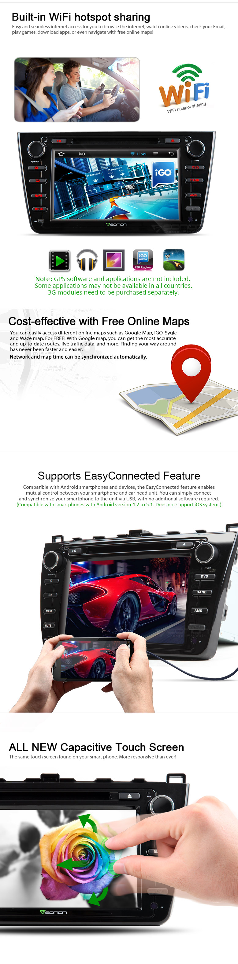 Eonon GA5198F | Mazda 6 Navigation | Mazda Android Car DVD | Android