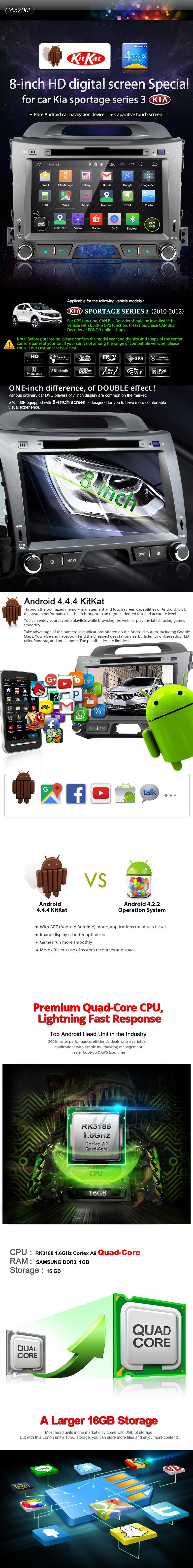 Kia 3 Android Car DVD GPS