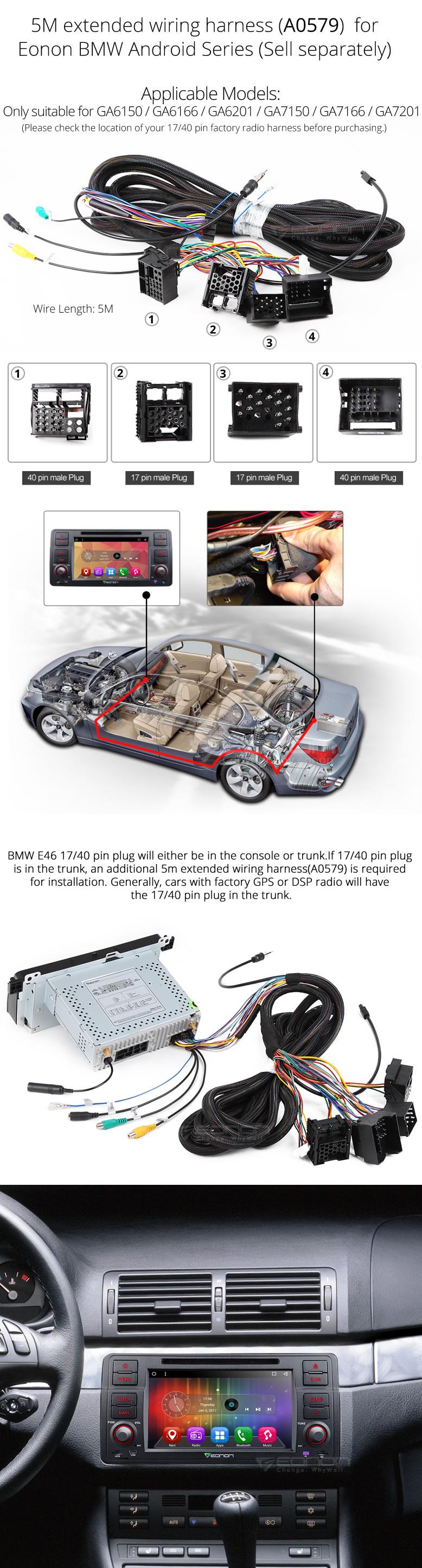 Bmw E46 Gps Wiring Harness Smart Diagrams Eonon Ga7150 Android 6 0 Car Dvd Navigation Rh Com Seat Diagram Connectors