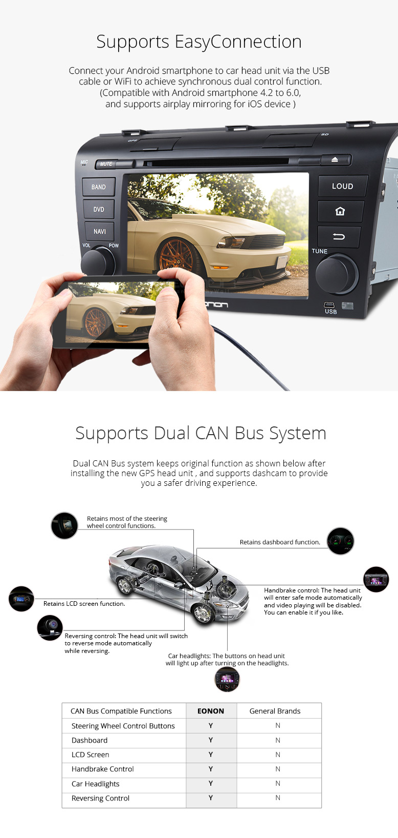 7-Inch Android 6 0 car navigation for MAZDA 3 Compatible with Bose
