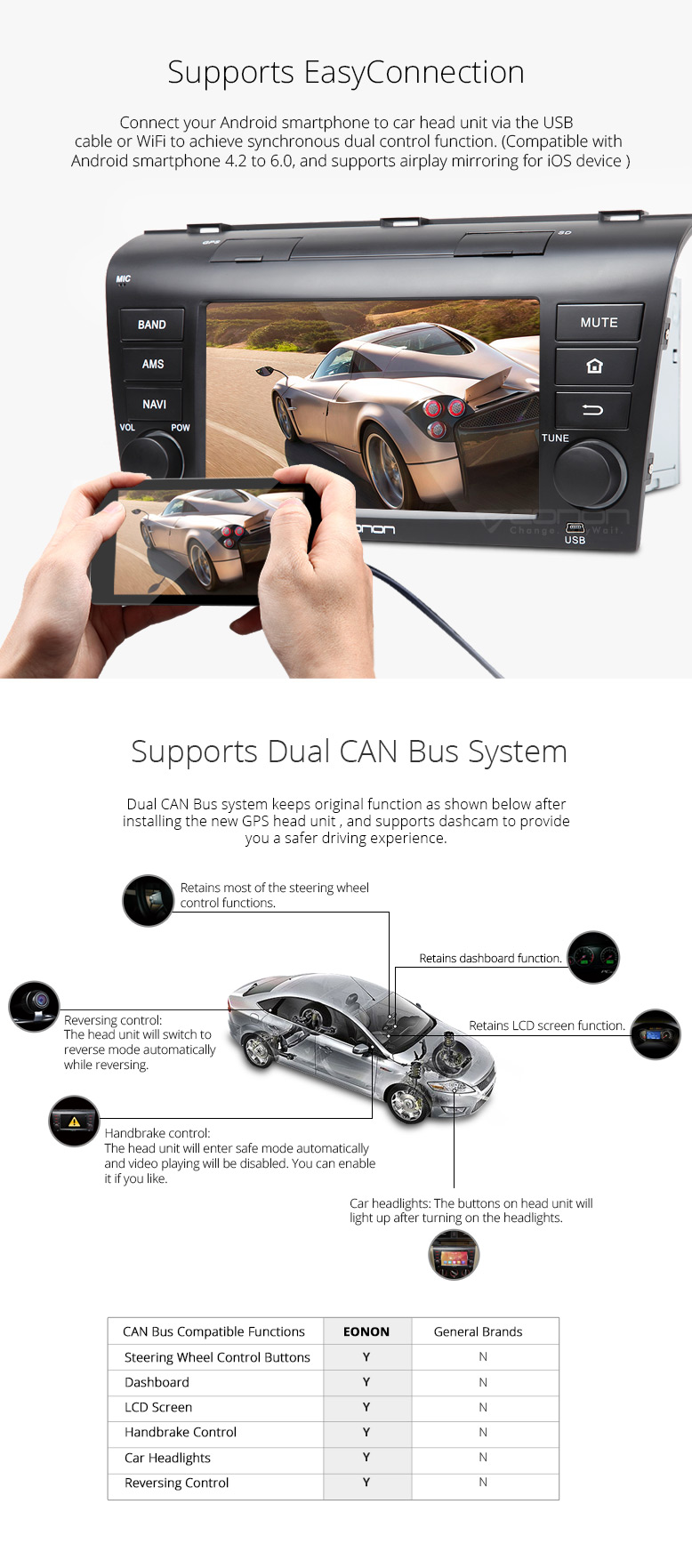 7 Android 6 0 Car Navigation for MAZDA 3(2004-2009