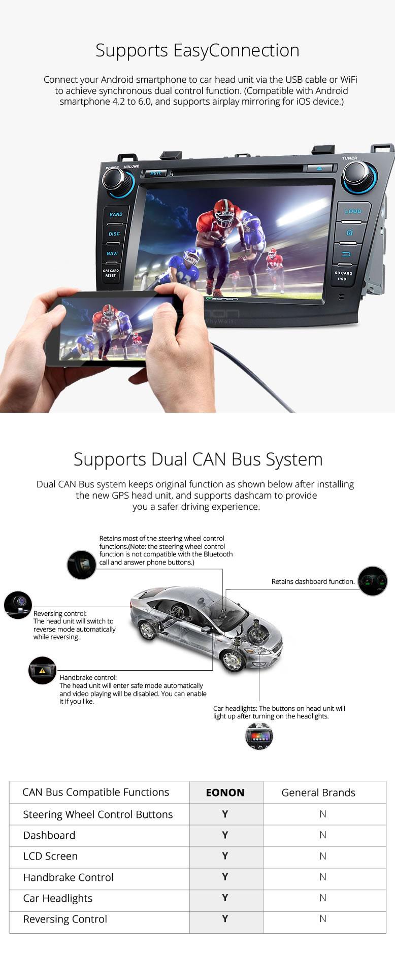Eonon GA7163S | Mazda 3 2010 - 2013 Android 6 0 Car Radio Stereo 8