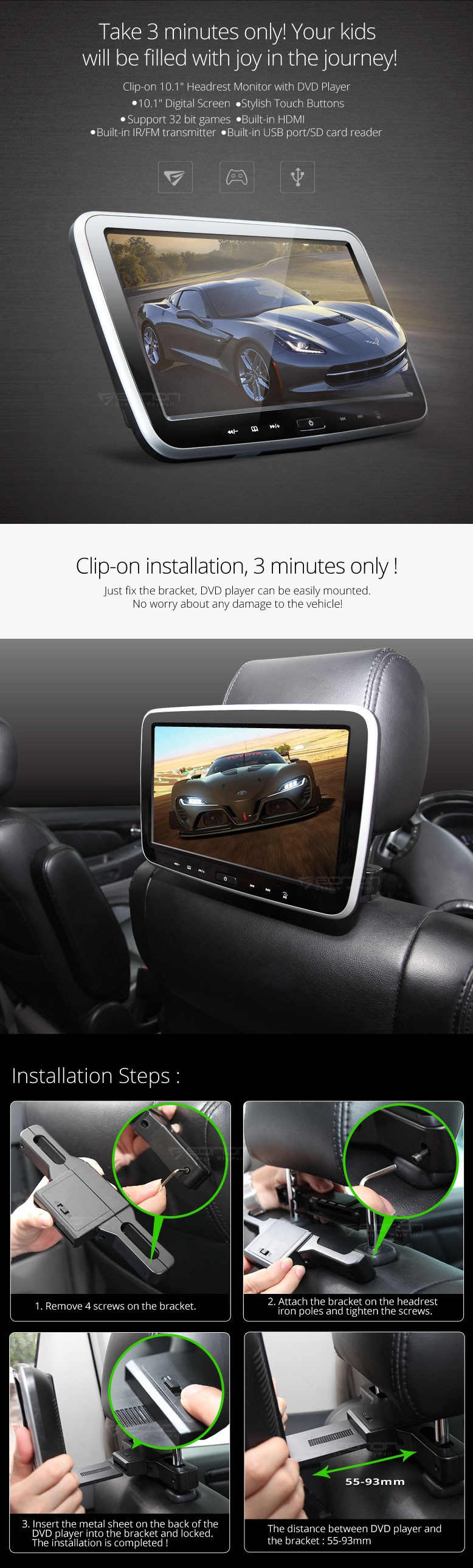 flip down monitor,car monitor