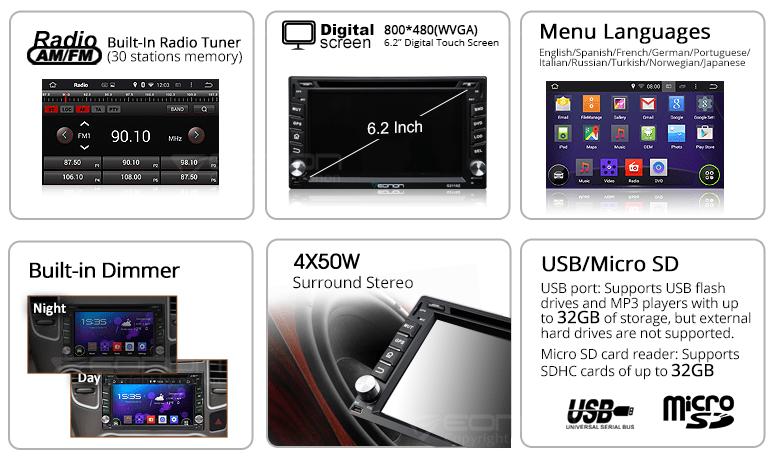 Eonon G2110F | Car GPS | Car DVD GPS | 2 Din Car GPS DVD | Android on