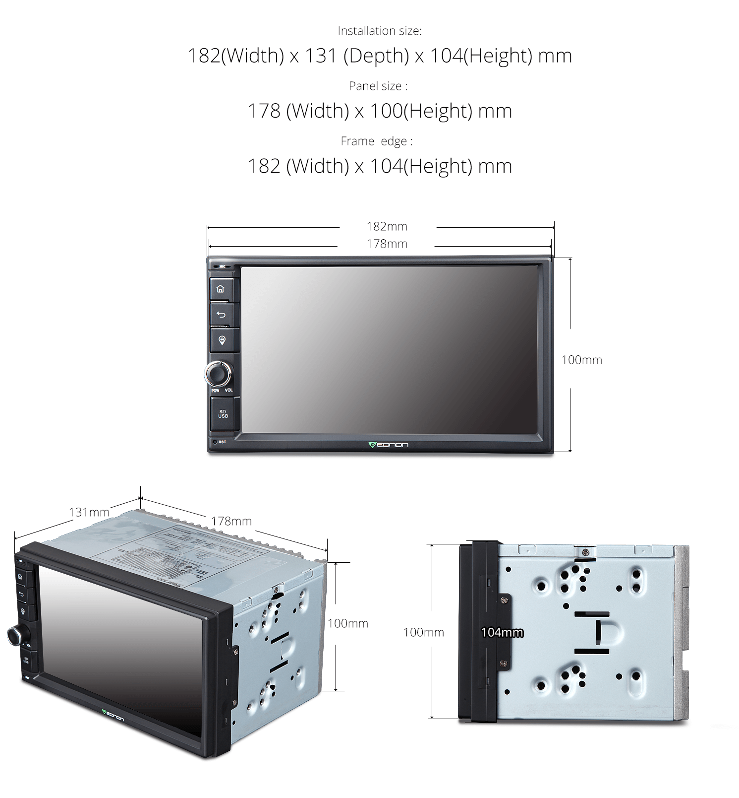 Eonon Ga2162 Car Gps 2 Din Head Unit Android 60 Ez 20brake Controller Wiring Diagram Other Features