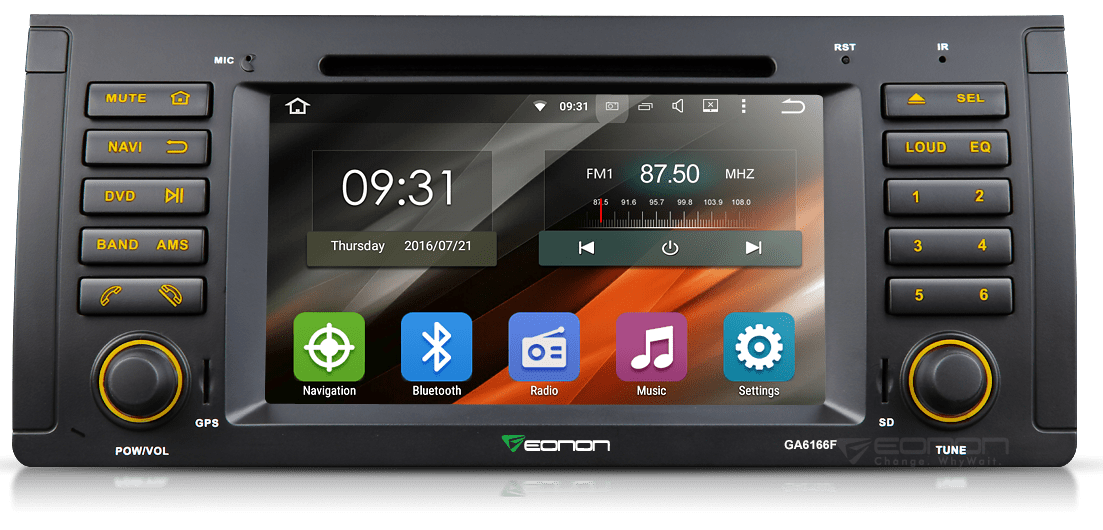 inch hd touchscreen din universal radio dvd player gps