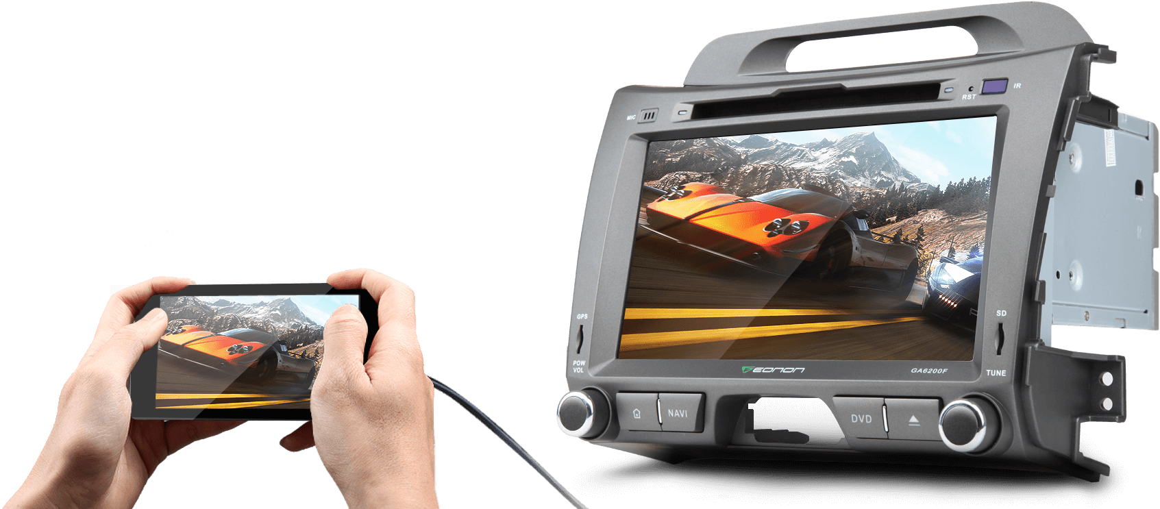 Eonon GA6200F | KIA Sportage Android 5 1 1 Lollipop In Dash Car