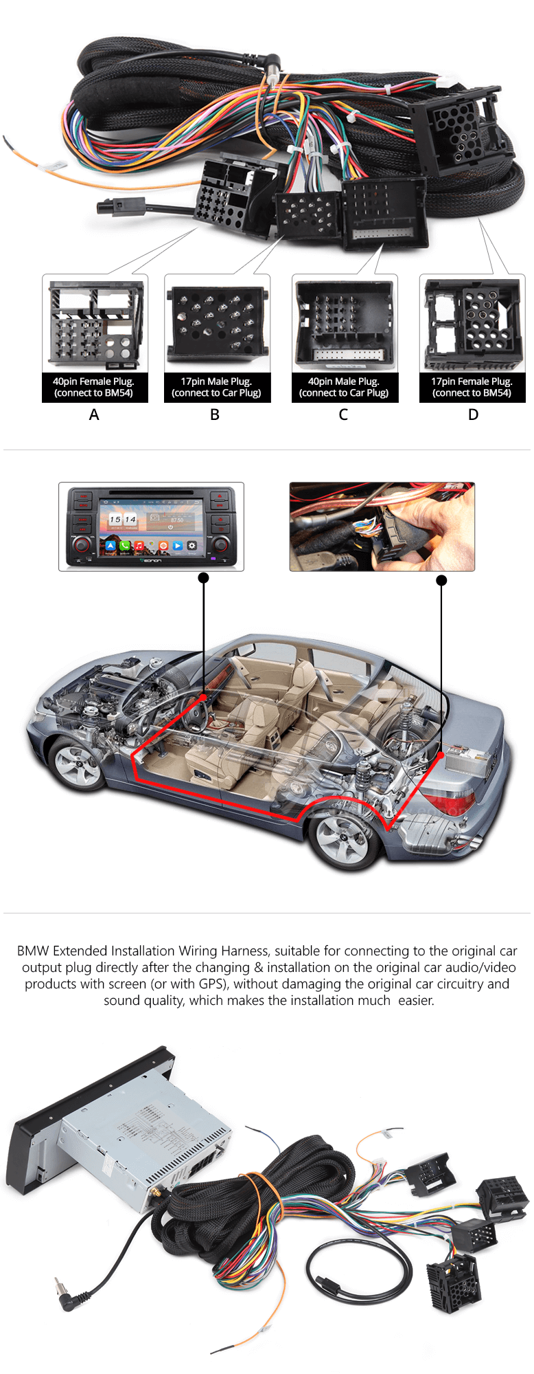 Eonon Ga7150a Bmw E46 Android 60 Octa Core Car Stereo Gps Wiring Audio Monitor Only Suitable For Ga7166a Ga7201a Ga6150f Ga6165f Ga6166f Ga6201f Please Check Your Power Plugs Pin Number In The Trunk Before Purchasing
