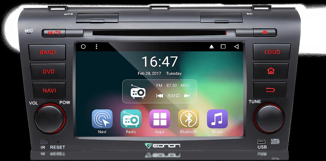 Eonon GA7151 | Mazda 3 2004-2009 7 Inch HD 1024x600 Touch Screen