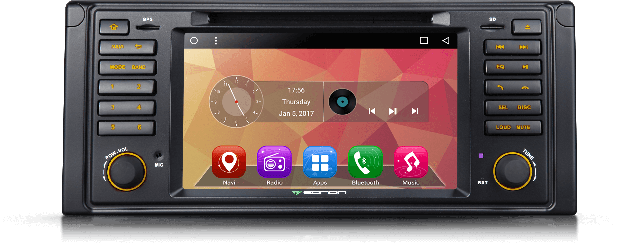 BMW E39 Android 6 0 Quad-Core Multimedia Car DVD GPS with Mutual