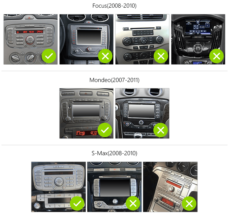 FORD FOCUS S-MAX MONDEO 7″ DIGITAL TOUCH SCREEN ANDROID iOS