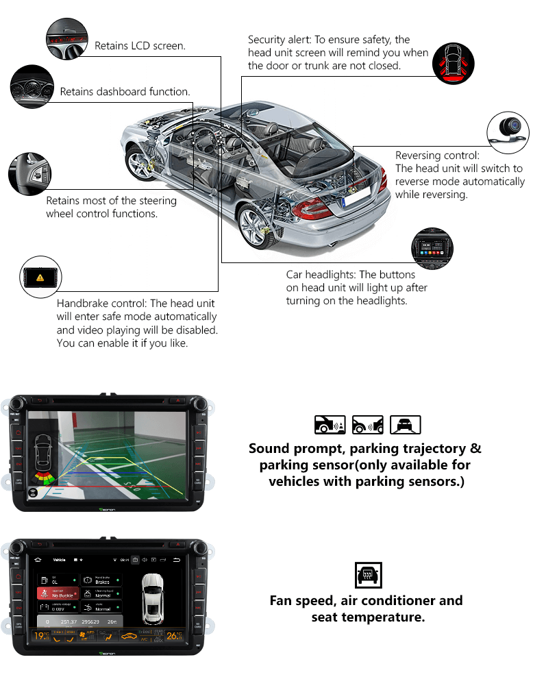 Eonon GA9153A | Volkswagen/SEAT/SKODA Android 8 0 Oreo 4G