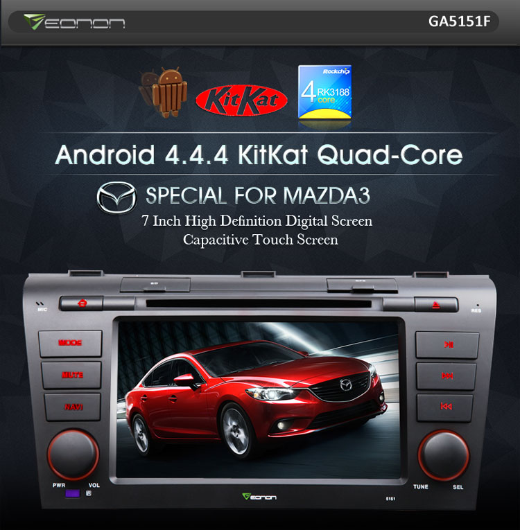 Eonon GA5151F Android 4.4 Quad-Core Car DVD for Mazda 3 is Finally Released!