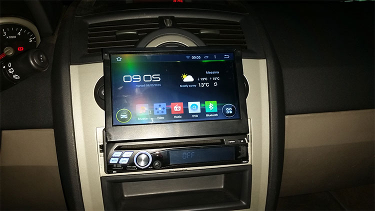 Installation Pictures & Review about 1 Din King GA1312 Android 4.4 Car GPS