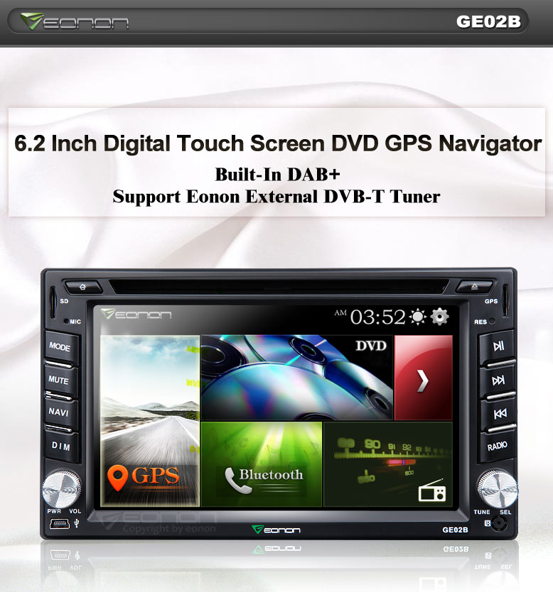 New DAB+ King GE02B 2 Din Car DVD GPS with Built-in DAB+ Tuner is Finally Released!