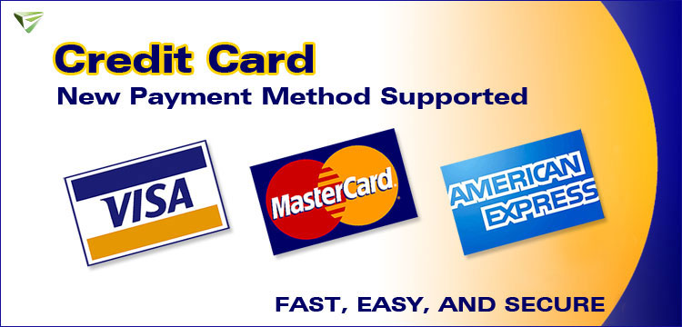 New Credit Card Payment Method Supported, More Convenient for you to Shop Head Units!