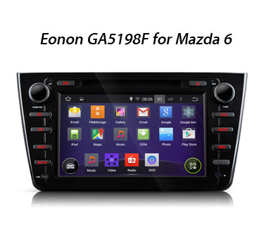 New Android 4.4 Car GPS GA5198F & GA5199F for Mazda 6 Released for 2016 Valentine Sale!