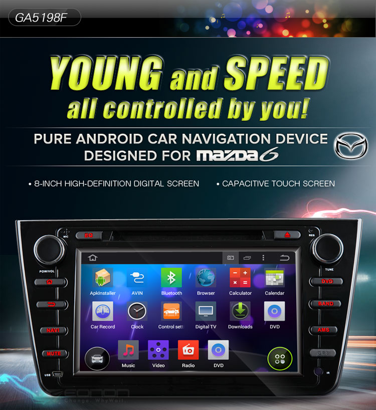 Mazda 6 2008-2012 Android 4.4 Car GPS GA5198F is Back inStock!