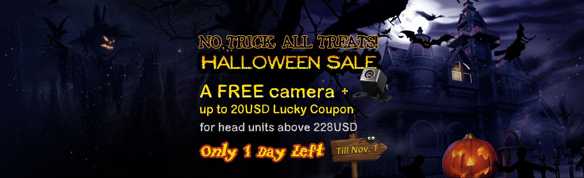 Get Android 5.1 Car GPS on this Big Happy Halloween Sale