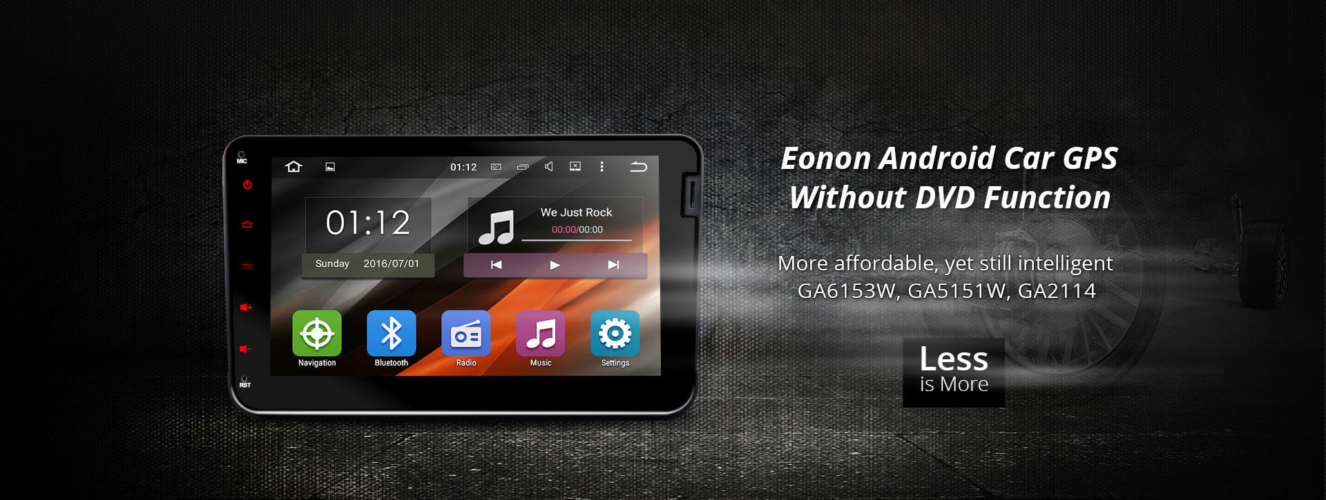 Eonon Android 4.4 Car GPS without DVD Function,yet still intelligent