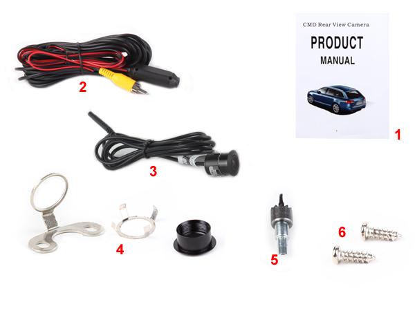 Backup Waterproof HD Camera Drilling & Hanging Dual-Use