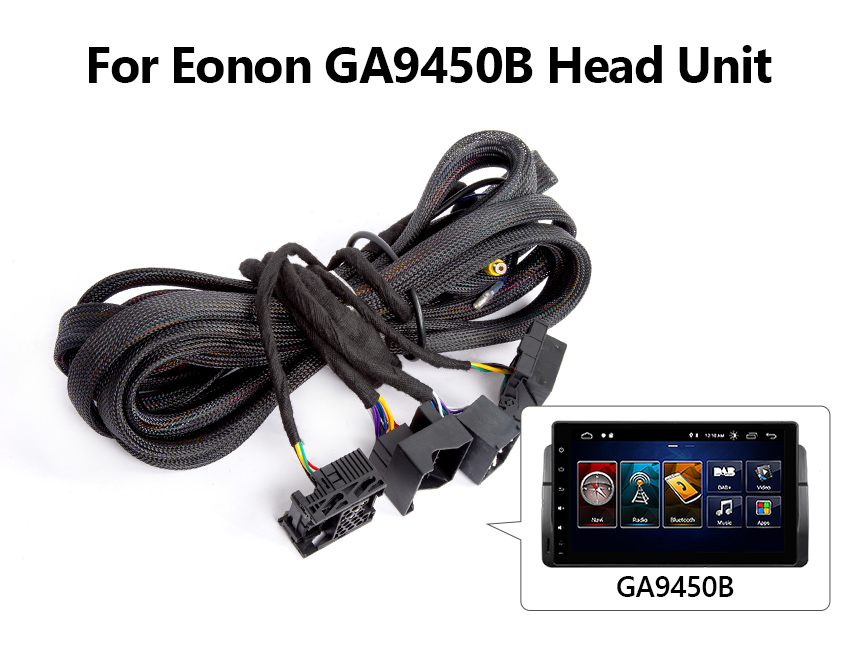 Eonon GA9450B Android Head Unit 17 pin+ 40 pin Extension Wiring Harness