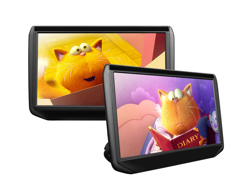 Eonon Pair of 11.6 Inch IPS Car DVD Headrest Monitors