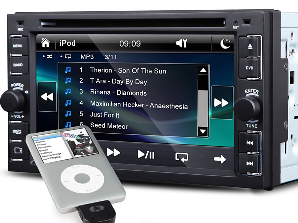 6.2 Inch Digital Touch Screen AVI/CD/VCD/MP3/DVD Player