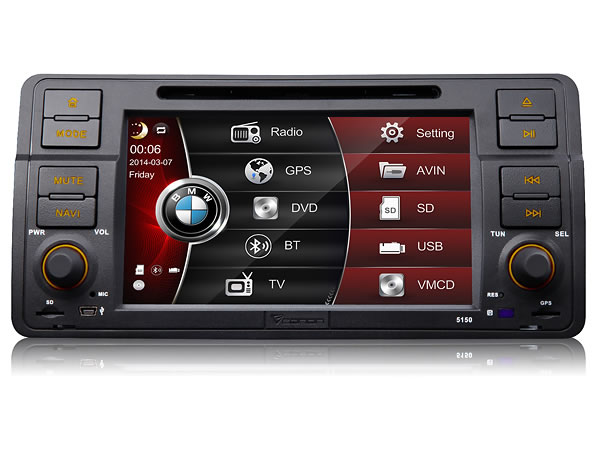 eonon d5150ze kamera bmw e46 3er dvd autoradio bluetooth. Black Bedroom Furniture Sets. Home Design Ideas
