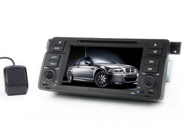 BMW E46 7″ Digital Touch Screen Multimedia Car DVD GPS (Upgraded to D5150V)