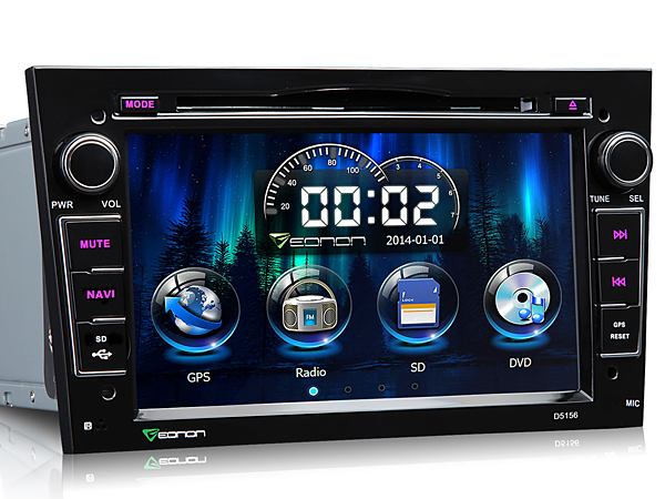 Black 7 Inch Digital Touch Screen Car DVD Player with Built-in GPS For Opel + Map Optional