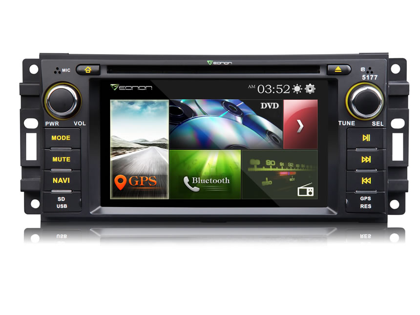 Jeep/Chrysler/Dodge 6.2″ Digital Touch Screen Multimedia Car DVD GPS