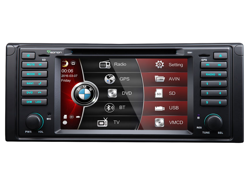 BMW E39 7″ Digital Touch Screen Multimedia Car DVD GPS (Upgraded D5124F)