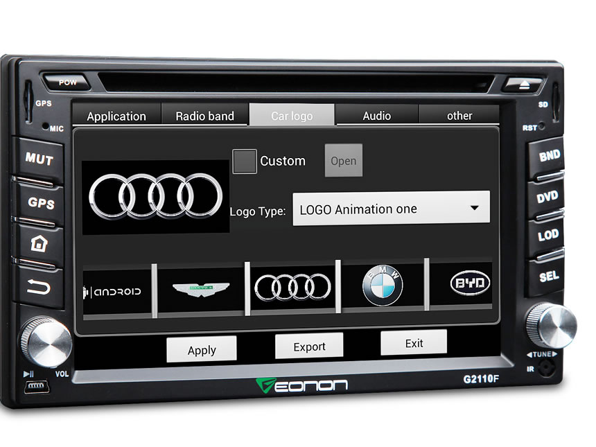 "2-DIN Android 4.4.4 Quad-Core 6.2"" Multimedia Car DVD GPS with Mutual Control EasyConnected"