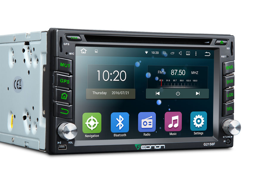 2-DIN Android 5.1 Quad-Core HD Screen 6.2″ Multimedia Car DVD GPS with EasyConnection Feature