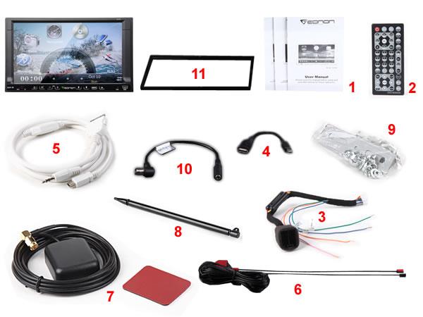 Eonon g2226d 7 inch digital touch screen 2 ui options car dvd gps.