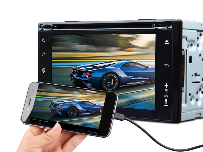 2-DIN Android 5.1 Quad-Core 6.2″ Multimedia Car GPS with Mutual Control Easy Connection(Upgraded G2150F)